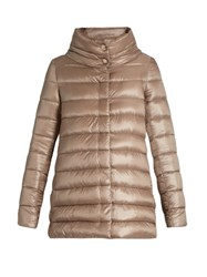 Herno Funnel Neck Down Filled Jacket Beige