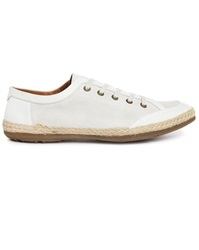 Paul And Joe St Barth White Cotton Velvet Low Top Sneakers