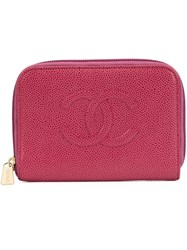 Chanel Vintage Cc Zip Wallet Red