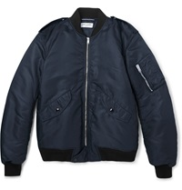 Saint Laurent Shell Bomber Jacket Blue