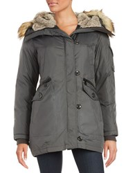 Vince Camuto Faux Fur Lined And Trimmed Parka Grey
