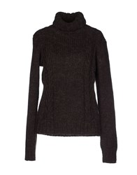Alpha Massimo Rebecchi Knitwear Turtlenecks Women Dark Brown