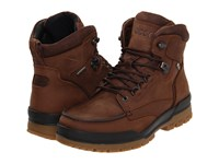 Ecco Track 6 Gtx Moc Toe Boot Bison Birch Men's Lace Up Boots Tan