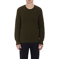 Vince. Men's Waffle Stitched Sweater Dark Green