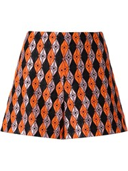 Giamba Patterned Shorts Yellow And Orange