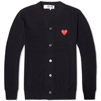 Comme Des Garcons Play Cardigan Black And Red
