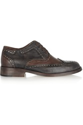 Esquivel Davis Two Tone Leather Brogues Black