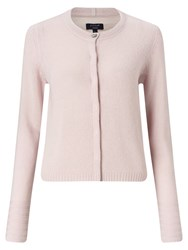Jigsaw Cloud Neat Cashmere Cardigan Rose Water