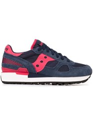 Saucony Contrast Panel Sneakers Blue
