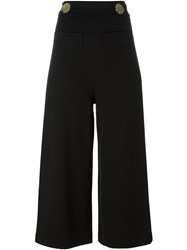 Tibi High Waisted Cropped Trousers Black