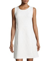 Carmen Carmen Marc Valvo Sleeveless Quilted Fit And Flare Dress White