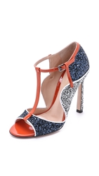 Mary Katrantzou Multi Colored Heels Navy Black