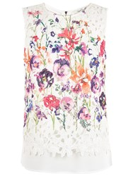Damsel In A Dress Botanical Floral Top Cream