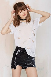 Nasty Gal Tiger Mist Cloudy Disco Mini Skirt