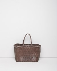 Dragon Optical Small Weave Bag Light Grey