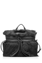 Marc By Marc Jacobs Shoulder Bag With Leather And Shearling Black