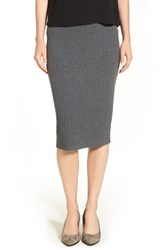 Eileen Fisher Women's Ribbed Wool Knit Pencil Skirt Ash