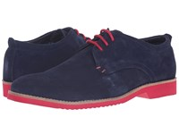 Lotus Camley Navy Suede Men's Lace Up Wing Tip Shoes Blue