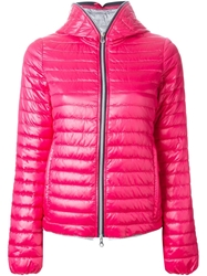 Duvetica Hooded Padded Jacket Pink And Purple