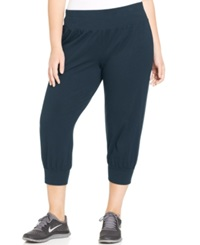 Style And Co. Sport Plus Size Capri Jogger Sweatpants Inustrial Blue