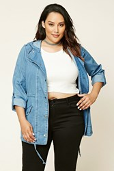 Forever 21 Plus Size Chambray Utility Jacket