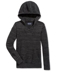 American Rag Men's Mix Stitch Marled Hoodie Only At Macy's Deep Black