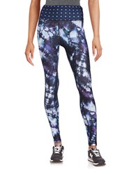 Nanette Lepore Tie Dyed Moisture Wicking And Anti Microbial Active Leggings Kaleidescope