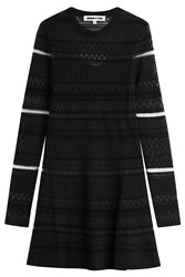 Mcq By Alexander Mcqueen Lace Skater Dress Black