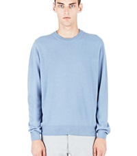Lanvin Crew Neck Cashmere Sweater Blue