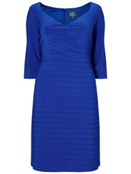 Adrianna Papell Plus Size Surplice Top Banded Bottom Cocktail Dress Electric Blue