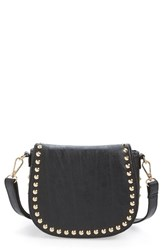 Linea Pelle 'Blue' Studded Faux Leather Saddle Bag