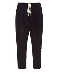 By Walid Morton Suede Cropped Trousers
