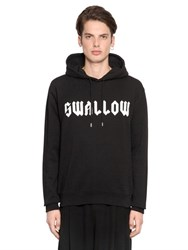 Mcq By Alexander Mcqueen Hooded Swallow Print Cotton Sweatshirt