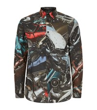 Christopher Kane Car Crash Print Shirt Male Multi
