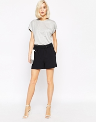 Selected Soft Tailored Shorts With D Ring Navy