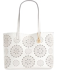 Inc International Concepts Melly Perforated Extra Large Tote Only At Macy's White