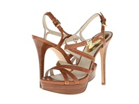 Michael Michael Kors Cicely Platform Luggage Vachetta High Heels Brown