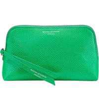 Aspinal Of London Essential Leather Cosmetic Case Green