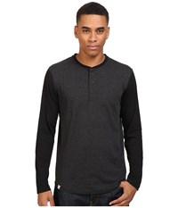 Captain Fin Laces Out Long Sleeve Knit Charcoal Heather Grey Men's T Shirt Gray