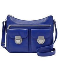 Fossil Riley Leather Hobo Sapphire