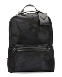 Valentino Tonal Camo Print Nylon Backpack Black
