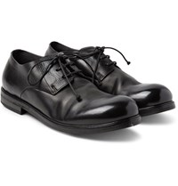 Marsell Polished Leather Derby Shoes Black