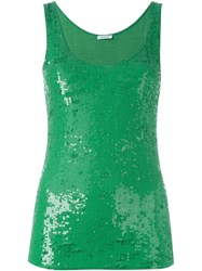 P.A.R.O.S.H. 'Geek' Sequin Tank Top Green