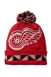 Mitchell And Ness Detroit Red Wings Contrast Pom Beanie Black