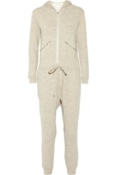 Clu Cotton French Terry Hooded Jumpsuit