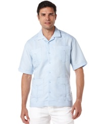 Cubavera Shirt Short Sleeved Guayabera Shirt Cashmere Blue