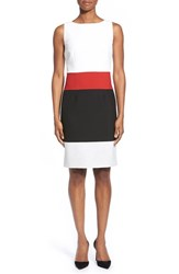 Women's Boss 'Divana' Colorblock Sleeveless Ponte Sheath Dress