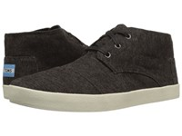 Toms Paseo Mid Dark Brown Herringbone Men's Lace Up Casual Shoes