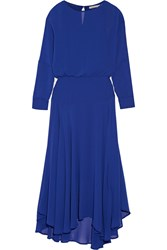 Maje Chiffon Maxi Dress Bright Blue