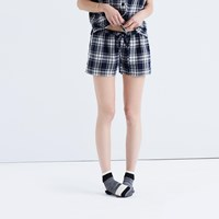 Madewell Bedtime Pajama Shorts In Moore Plaid